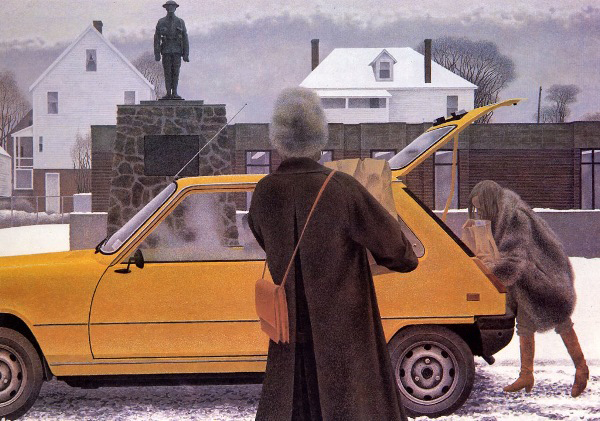 Three Things, The Car Edition: Alex Colville painting