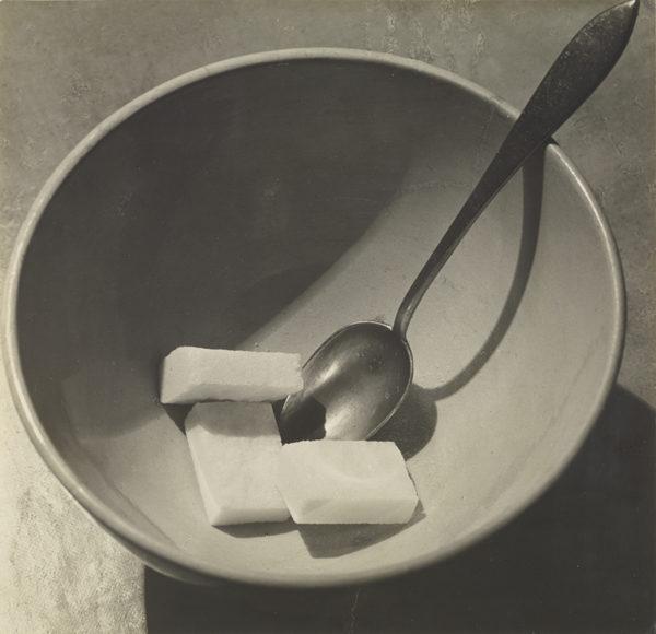 Bowl with Sugar Cubes; André Kertész (American, born Hungary, 1894 - 1985); Paris, France; 1928; Gelatin silver print; 16.7 x 16.4 cm (6 9/16 x 6 1/2 in.); 84.XM.193.46